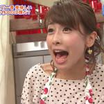 カトパン、加藤綾子、お口ぱっくり